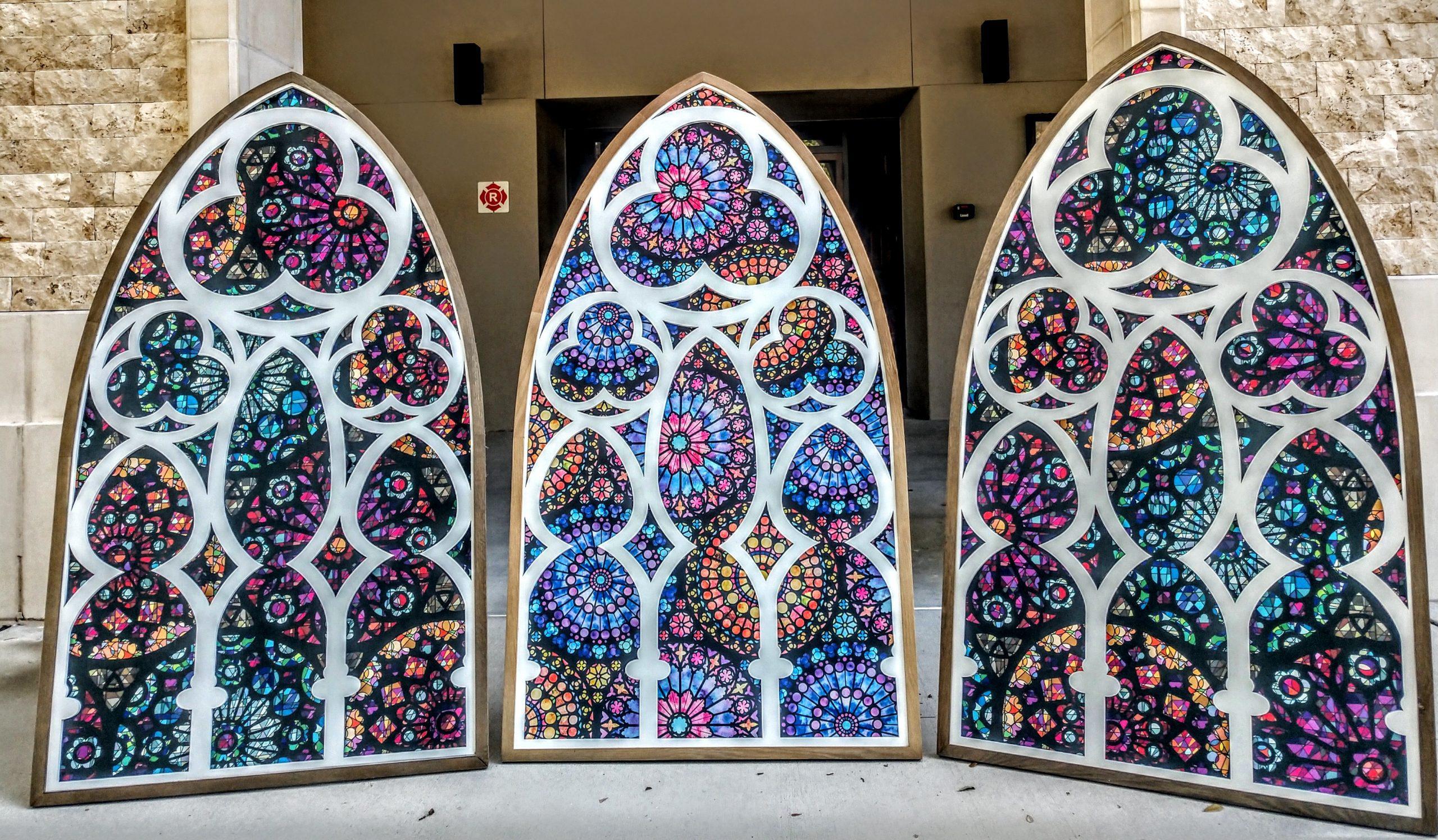 Priest creates windows to uplift the mind