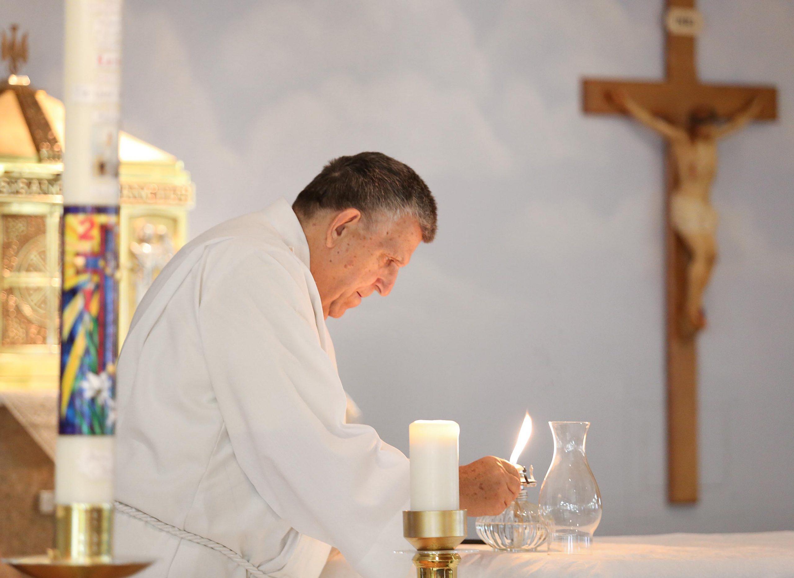 Still serving at the altar